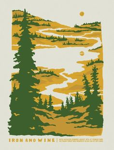 Furturtle Show Prints - IRON AND WINE with Kathleen Edwards 2012 Twilight Concert Series Poster