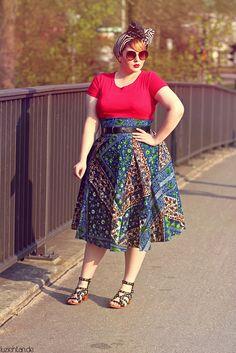 Plus Size Fashion - http://luziehtan.de/2015/05/outfit-wax-print/