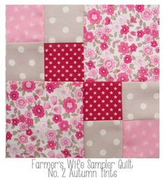 Farmers Wife quilt block No 2 Autumn Tints