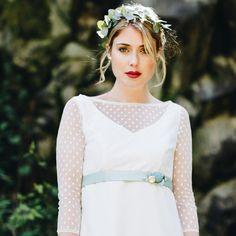 noni | Vintage Braut Top mit Punkten