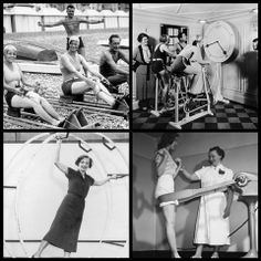 It's #ThrowbackThursday! We love these vintage/retro pictures of people #exercising. What piece of #gym equipment would you miss the most if you had to go back to those times for your #workout?
