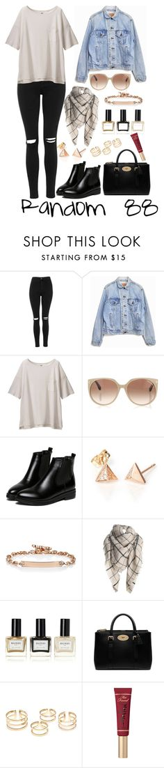 """""""Random 88"""" by megan-walz21 ❤ liked on Polyvore featuring Topshop, Levi's, Uniqlo, Tom Ford, WithChic, Hoorsenbuhs, Balmain, Mulberry and Too Faced Cosmetics"""