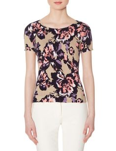 Floral Sweater Tee from THELIMITED.com