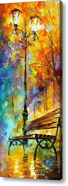 Aura Of Autumn 2 Acrylic Print By Leonid Afremov