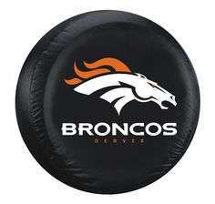 Denver Broncos Black Tire Cover - Standard Size