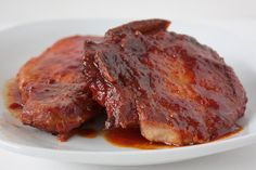 Momma Hen's Kitchen: Crock Pot Sweet and Sour Pork Chops  Not bad. Make sure to fully cover the chops if microwaving to reheat.