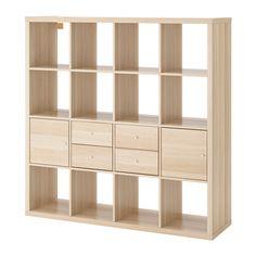 IKEA - KALLAX, Unit rak dengan 4 sisipan,
