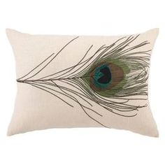Bring an eye-catching pop of pattern to your bed or sofa with this stylish pillow from D.L. Rhein.  Product: PillowConstruction Material: 100% LinenColor: MultiFeatures:  Insert includedD.L Rhein original design Dimensions: 14 x 20Cleaning and Care: Spot clean