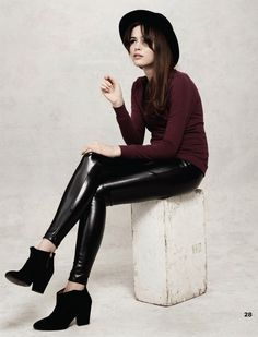 We have the entire outfit! Pleather leggings are a must for Fall 2012...