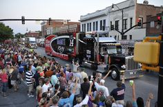 Yeah, we were hanging out at the Car Hauler Parade on the Square in Darlington!