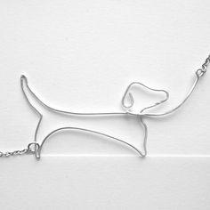 Dachshund Necklace  Dog Lover Gift Daschund by FioreJewellery, €34.00