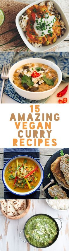 15 Verschiedene Vegane Curry Rezept Ideen *** 15 Amazing Vegan Curry Recipes