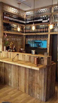 restaurant counter Bespoke Reception Bar Counter R - Restaurant Counter, Cafe Counter, Home Bar Counter, Cafe Restaurant, Pub Design, Diy Home Bar, Bars For Home, Canto Bar, Garden Bar Shed