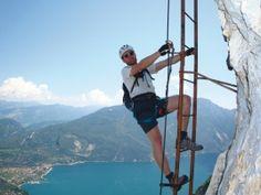 Via dell' Amicizia, Auf einer der Leitern im oberen Teil.