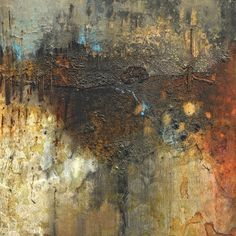 Fault Line | Mixed media by abstract artist Lesley Clarke