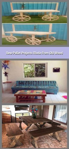 Here come the new pallet projects made from old wood which are amazingly adorable. These new pallet projects aimto boost the elegance of your home. Trendy Furniture, Sofa Furniture, Pallet Furniture, Furniture Ideas, Pallet Wall Decor, Pallet Bench, Garden Spaces, Old Wood, Quality Time