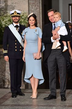 Prince Carl Philip and Princess Sofia, Christopher O'Neill and Prince Nicolas.