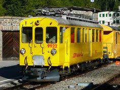 RhB service car Xe 4/4 9922 in Cavagalia on 15.09.2010