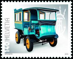 Swiss special stamp: Swiss automobiles (Tribelhorn) www.postshop.ch #Stamps…
