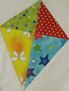 four patch kite free paper piecing pattern