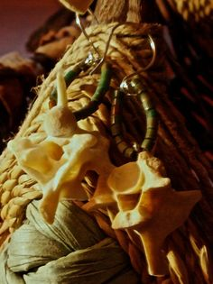 SALE 25% OFF Snake spine/vertebrae leather by HandmadeByValerieK