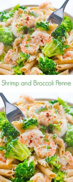 Shrimp and Broccoli Penne Recipe - A healthy and easy dinner perfect for the whole family! - The Lemon Bowl