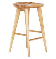 """Settle in at the bar in style with our Black Tractor Seat Counter Stool. Designed with a slight contour in the front and raised edge in the back, this bar-height stool features the time-tested, backside-cradling comfort of a tractor seat. Crafted of solid oak or walnut, it also boasts invisible rubber foot caps to prevent scratches.  * 20""""W x 29""""H x 20""""D * Solid Oak or Walnut * Imported"""