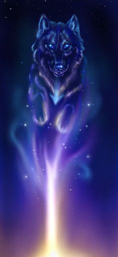 Spirit Wolf Photo: This Photo was uploaded by emmiedownunder. Find other Spirit Wolf pictures and photos or upload your own with Photobucket free image . Anime Wolf, Fantasy Wolf, Fantasy Art, Fantasy Creatures, Mythical Creatures, Galaxy Wolf, Wolf Artwork, Wolf Spirit Animal, Animal Spirit Guides