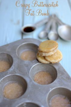 Crispy Butterscotch Fat Bombs, thm S. Low Carb Candy, Low Carb Sweets, Low Carb Desserts, Low Carb Recipes, Keto Candy, Dessert Recipes, Diet Recipes, Healthy Recipes, Atkins Recipes
