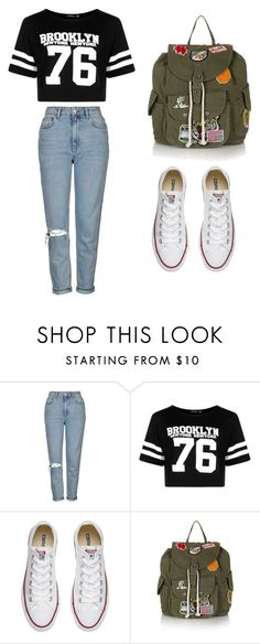"""""""Outfit #8"""" by carmen96lr on Polyvore featuring Topshop, Boohoo and Converse"""