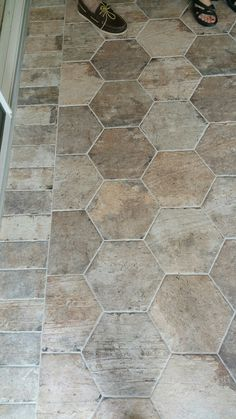 Tile wholesalers 2016 Homearama Entryway Flooring, Brick Flooring, Kitchen Flooring, Floors, Kitchen Redo, Kitchen Remodel, Entry Tile, Home Upgrades, Living Room Carpet