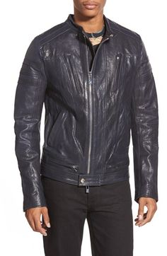 Rogue Cafe Racer Leather Jacket