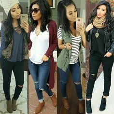 This pin was discovered by maritza vazquez. Casual Fall Outfits, Fall Winter Outfits, Autumn Winter Fashion, Spring Outfits, Cute Outfits, Mode Cool, Donia, Fashion Outfits, Womens Fashion