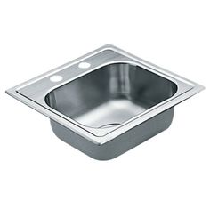 Buy the Moen Stainless Direct. Shop for the Moen Stainless Single Basin Drop-In Stainless Steel Bar Sink with SoundSHIELD Technology from the 2200 Series and save. Steel Kitchen Sink, Drop In Sink, Single Bowl Kitchen Sink, Kitchen Sinks, Lorraine, Prep Sink, Bar Sink, Bowl Designs, Stainless Steel Kitchen