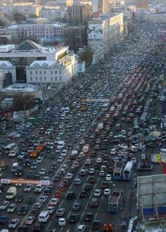 Moscow: more lanes = more cars