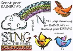 Zendoodle Rainbow - from Sparkle and Sprinkle - I want this set