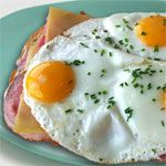 From the International Egg Dishes Breakfast Recipe Collection. This is a Dutch breakfast. I have used Carl Buddig ham slices, but you can use any kind.