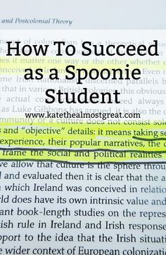 How To Succeed as a Spoonie Student - Kate the (Almost) Great