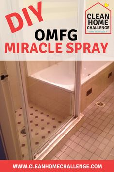 Try using this natural OMFG Miracle Spray on your shower screen to remove soap scum. Shower Screen Cleaner, Clean Shower Screen, Homemade Shower Cleaner, Cleaners Homemade, Diy Cleaners, Safe Cleaning Products, Car Cleaning Hacks, Cleaning Spray, Mattress Cleaning