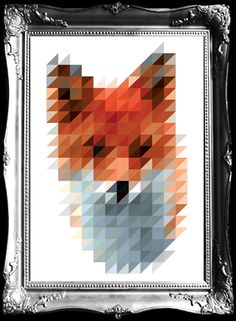 """Fox"". Not everything has to be digital quality these days. £250 - Pictures on Walls"
