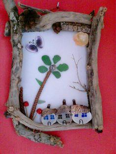 driftwood and seashells....by jansfabfairies...