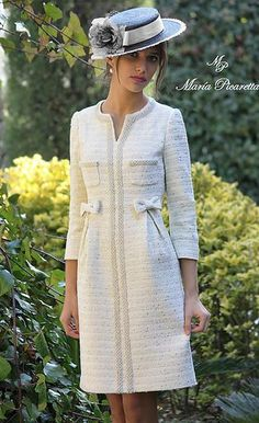 Swans Style is the top online fashion store for women. Shop sexy club dresses, jeans, shoes, bodysuits, skirts and more. Chanel Fashion, Vogue Fashion, Chanel Style, Winter Dresses, Evening Dresses, Tweed Dress, Mode Outfits, Mode Style, Dress Patterns