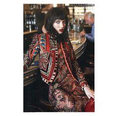 Etro's luxurious streetwear sensibility as seen in @ellefr . .  Editor: @hortensemanga  Photographer: @stevenpanpan  Model: @graciehartzel  Hair: @visapyyapy  Make Up: @violette_fr . .  #ETRO #ETROWoman #ETROEditorials #AW1617 #FW1617 #Elle #ElleFrance #Womenswear