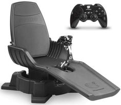 GYROXUS PS3 Gaming Chair moves with the game.  Looks kind of cheesy (not made to last) but I'd give it a shot!