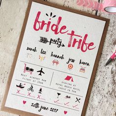 Are you interested in our Hen Party Invitations ? With our Bride Tribe you need look no further.