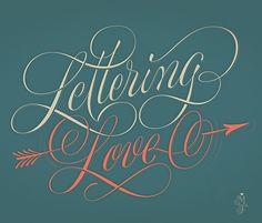 Lettering Love on Behance by Martina Flor