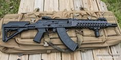 Krebs Custom OP-14 7.62x39 tactical Ak-47 with Magpul pistol grip, flip up sights,  and stock
