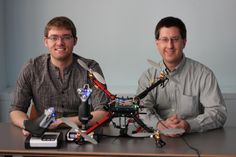 Cleared for Landing  Seidenberg Professor Richard Kline and Keith McPherson '13 team up to explore the possible uses of a flying drone quadcopter as part of the Undergraduate Student/Faculty Research Initiative.