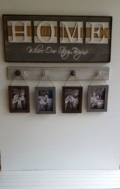 Rustic HOME sign Home Where our story starts Country decor Wedding shower gift Housewarming gift by OurLittleCountryShop on Etsy
