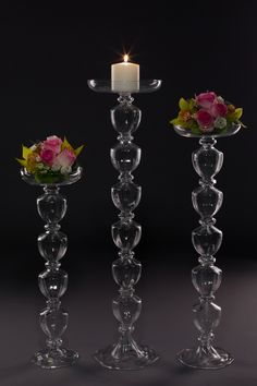 Candleholders - amazing glassware wedding decorations - for special occasions. Special Events, Special Occasion, Candleholders, Candelabra, Wedding Decorations, Vase, Candles, Amazing, Shop